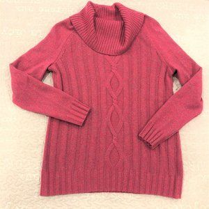 Talbots Pink & Multi Color Merino Wool Sweater